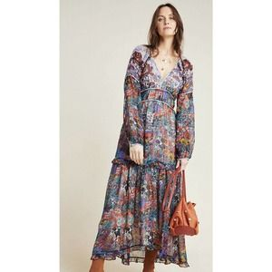 Anthropologie Maeve Annabelle Maxi Boho Dress